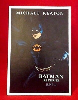 "BATMAN RETURNS 9"" Promotional Counter Standee 90's Rare DC Comics Tim Burton"