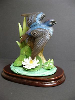 Andrea By Sadek Purple Martin With Water Lily Bird In Original Box