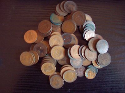 Collection Of Over 80 Farthings and Halfpennies - Unsorted - Bargain!