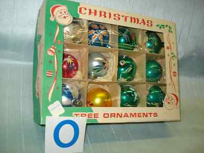 12 Vintage Gorgeous Hand Painted Poland Christmas Tree Glass Ornaments