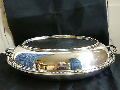 Antique Silver-Plated Tureen & Lid by JD&Co. ~1897