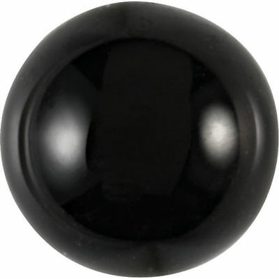 HUGE 25mm ROUND CABOCHON-CUT NATURAL AFRICAN JET-BLACK ONYX GEMSTONE £1 NR!