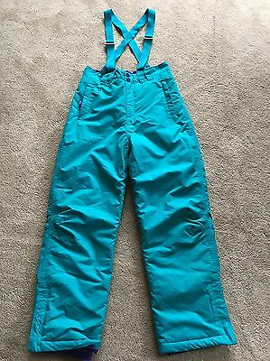 Girls Alpine Sallopettes Waterproof Trousers Age 11-12 Years Turquoise