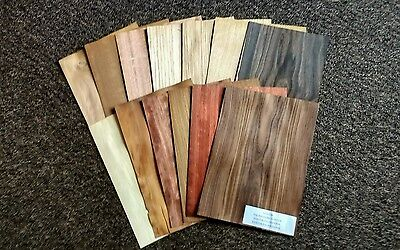Marquetry Veneer 13 different timbers