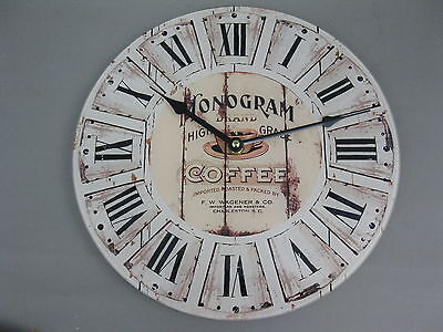 Large Wall Clock 30 cm Nostalgic Clock Antique style Coffee