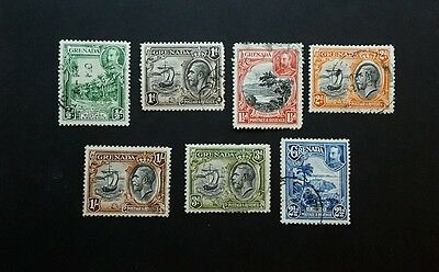 Grenada, 1934, 7 stamps from set, used