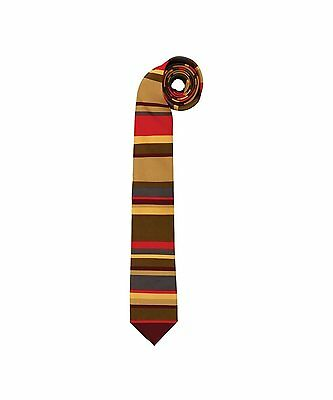 Dr Doctor Who Adult Costume 4th Doctor Scarf Pattern Necktie Tie - Tom Baker