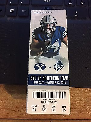 2016 Byu Cougars Vs Southern Utah College Football Ticket Stub 11/12