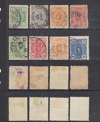 Finland 1885-92 small selection.