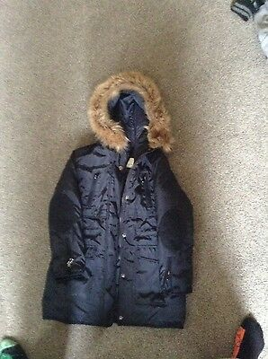 girls Zara winter coat aged 7-8 years