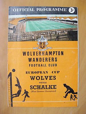WOLVES v SCHALKE 04 European Cup 1958/1959 *Exc Condition Football Programme*