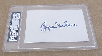 "Byron Nelson Golf Autographed Signed  3""x5"" Index Card PSA Certified Slabbed #2"