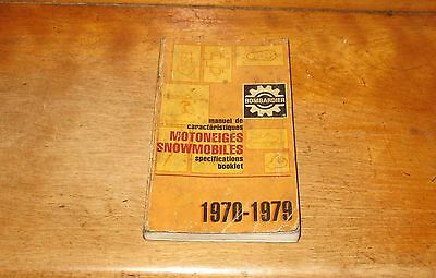 1970 - 1979 Snowmobile Specifications Booklet Bombardier Ski-Doo