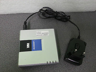 Linksys PAP2T VOIP Internet Phone Adapter