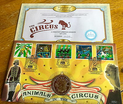 Benham Coin Cover Excellent Condition Limited Edition Circus Animals