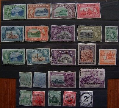 Trinidad & Tobago: selection of mint stamps, QV to early QE2
