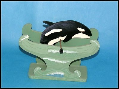 Wooden Whale Spinning Toy wood