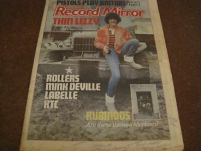 RECORD MIRROR - 27 Aug 1977 - THIN LIZZY - ROLLERS - MINK DEVILLE - LABELLE -XTC