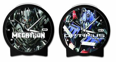 TRANSFORMERS 2 - Optimus Prime / Megatron Alarm Clock (Wesco) #NEW