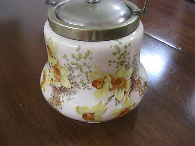 Lovely Vintage Biscuit Jar-Daffodils