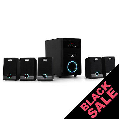 Active 5.1 Channel Home Cinema Theater Sound System 95W Rms Speakers Subwoofers