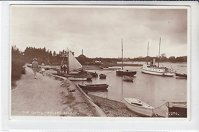 VINTAGE 1956 POSTCARD THE QUAY, HAYLING ISLAND, HAMPSHIRE to READING, BERKS