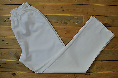 New Women's Elegant Short Leg White Trousers Capri Pants UK Size 16