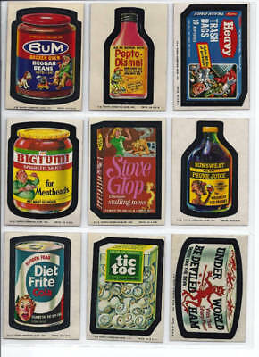 1974 Topps Wacky Packages 8th Series 8 Complete Set 30/30 NM-