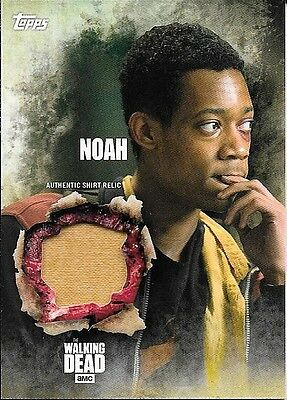 2016 Topps The Walking Dead Season 5 Noah Authentic Shirt Relic Card