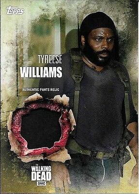 2016 Topps The Walking Dead Season 5 Tyreese Williams Authentic Pants Relic Card
