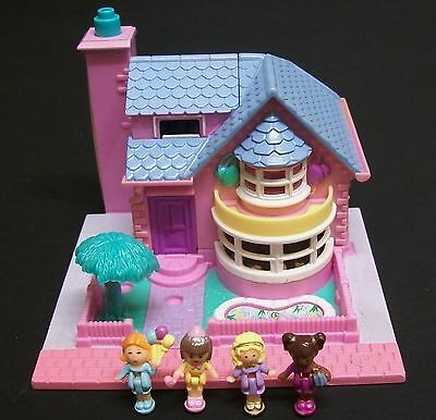Vintage Polly Pocket - Bay Window House,100% Complete.