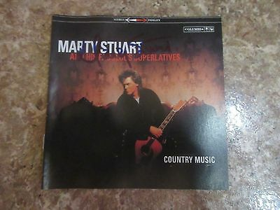 Signed Autographed CD Booklet Marty Stuart - Country Music