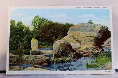 Texas TX Junction North Llano River Postcard Old Vintage Card View Standard Post