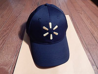 Walmart Employee Cap Hat Blue One Size Adjustable Yellow Embroidered Logo
