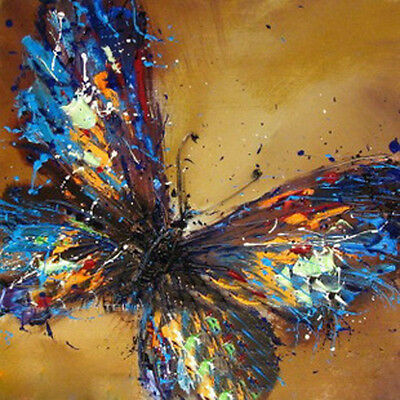 """20*20"""" Abstract Oil Painting on canvas Butterfly/Hand-painted/NO Frame OP0309"""