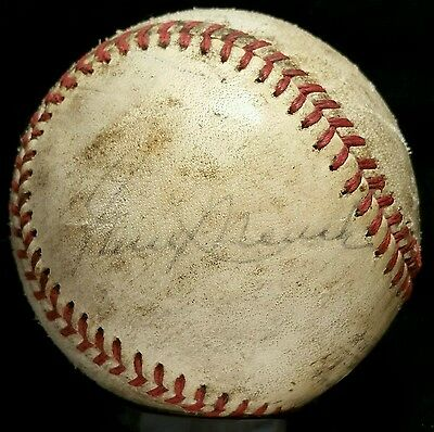 Early 1970s GENE MAUCH Game Used Signed ONL Baseball Auto Montreal Expos Team