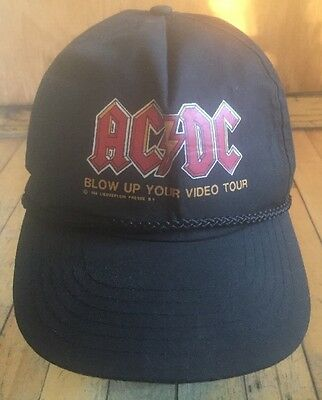 AC/DC Vintage 1980s Snapback hat truckers Blow Up Your Video Tour