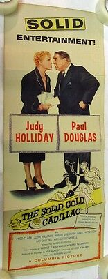 1956 The Solid Gold Cadillac Movie Poster Judy Holliday Paul Douglas Columbia