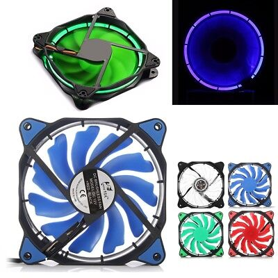 DC 12V LED 3/4-Pin 120mm PC Computer Case CPU Cooler Cooling Quiet Silent Fan
