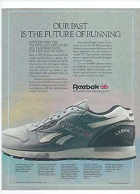 REEBOK LX 8500 Running Shoe 1986 Magazine Ad All Leather Print Advertising