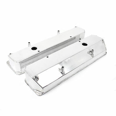 Holden 253 304 308 (308 Heads) Anodized Fabricated Valve Covers - Tall w/ Hole