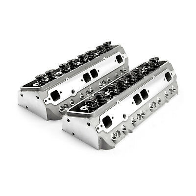 Chevy SBC 350 190cc 64cc Straight Hydr-FT Complete Aluminum Cylinder Heads