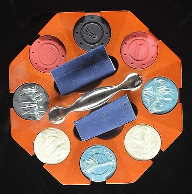 Michael Graves Chips/Wood case/Un-opened Chips and 2 decks of cards