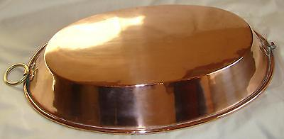 Antique French copper/brass OVAL PLATE 1900