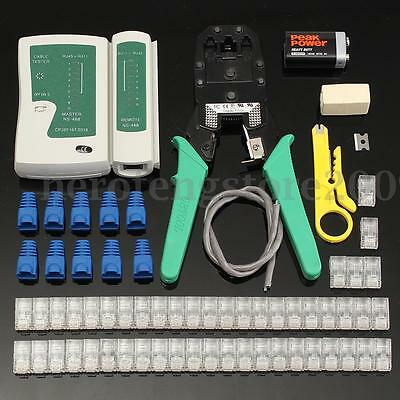 66Pcs RJ45 Cat5e Cat6 Lan Network Cable Tester Crimper Punch Down Stripper Tool