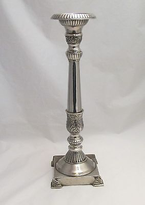 A Large Silver Plated Candlestick - Good Heavy Quality