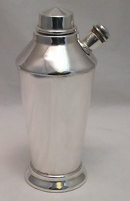 A Large Art Deco Silver Plated Cocktail Shaker - c1930