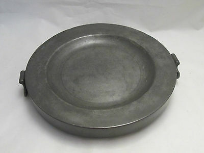 An Early 19th Century Pewter Dish Warmer - Touchmarks
