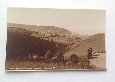 Old Postcard Minehead from Crabbist Real Photo Unposted Judges