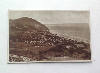 Old Postcard Penmaenmawr from the Mountain Real Photo Unposted Valentines